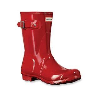 Hunter Original Short Gloss Rain Boots UK 3, US 5